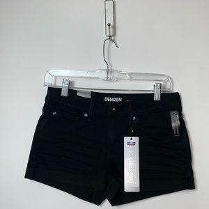 NWT Denizen Levi's Black Low Rise Shortie Shorts